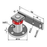 Palier de disque gauche 4 trous adaptable avec support diamètre 110 mm déchaumeur Universel-144811_copy-20