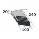 Pointe universelle biseautée gauche à souder avec plaquettes carbure et rechargement pour charrue-14340_copy-20