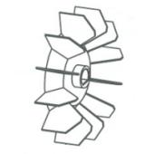 Hélice de refroidissement pour compresseur Lacmé Twinair 23 / 100 M-1750376_copy-20